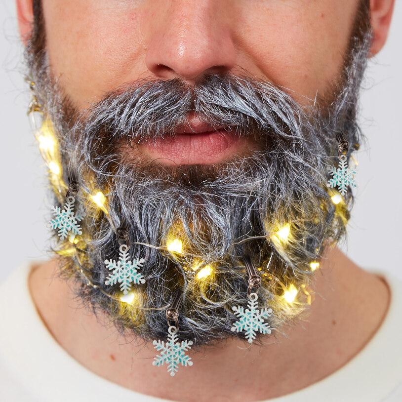 Skæg Kit - Jule Sne med Lys