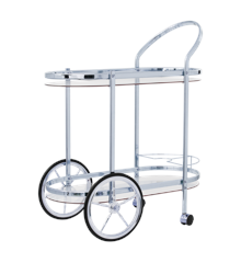 Rice - Cocktail Cart - Silver