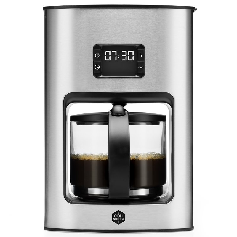 OBH Nordica - Vivace Tempo - Coffee Maker - Silver (2326)