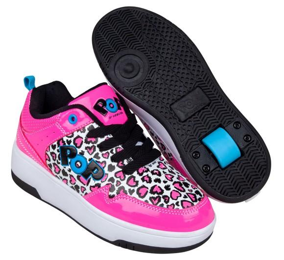 Heelys POP Shoes - Neon Pink (size 31) (POP-G1W-0056)