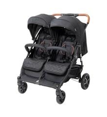 Babytrold - OS2 Tvillinge Klapvogn - Black