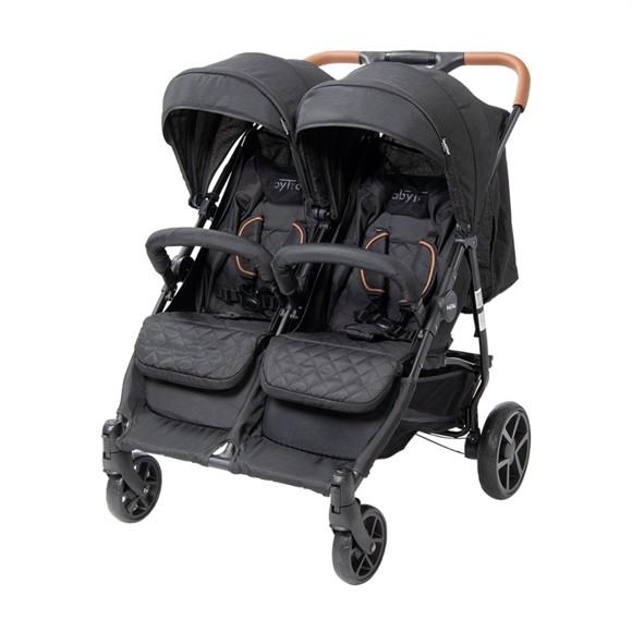 Babytrold - OS2 Twin Pushchair - Black