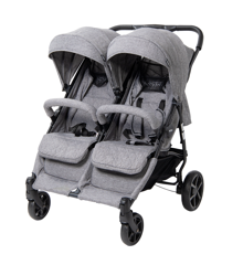 Babytrold - OS2 Twin Pushchair - Grey Denim