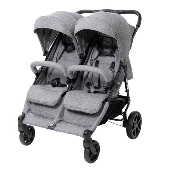 Babytrold - OS2 Twin Pushchair - Grey Denim