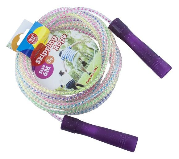 Playfun - Jumping Rope w/ Purple Handle (6 m) (6491)
