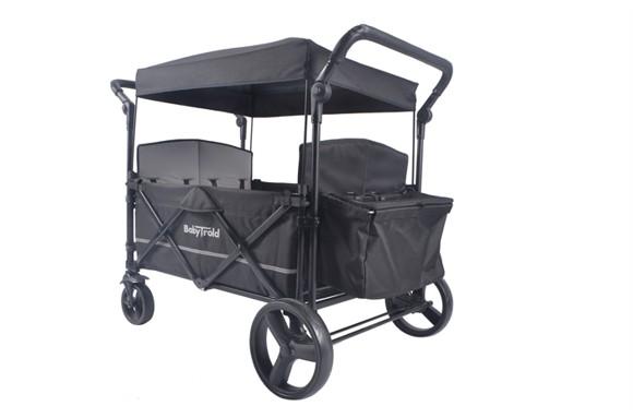 Babytrold - Fun Klapvogn til 4 børn - Sort