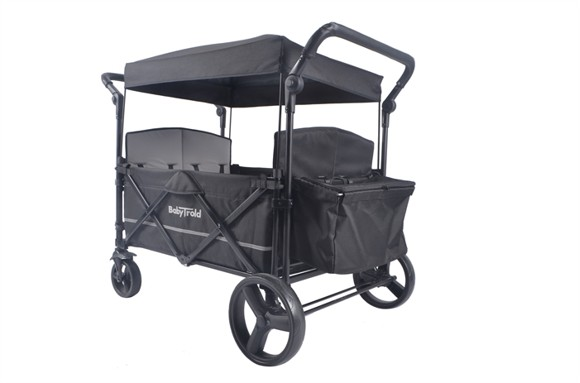 Babytrold - Fun Trolley for 4 children - Black