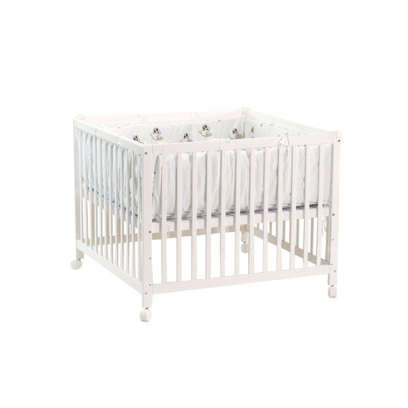 Babytrold - Kravlegård 80 x 80 cm - White