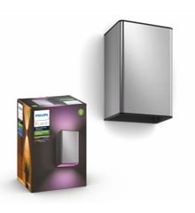 Philips Hue - Resonate Wall Light - Hue Outdoor - Inox - White & Color Ambiance