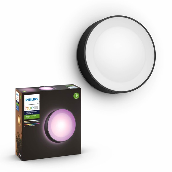 Philips Hue - Daylo Wall Light Hue Outdoor Black - White & Color Ambiance