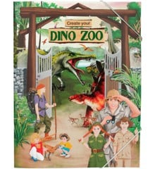 Create Your - Dino World Zoo Sticker Colouring Book (0410370)