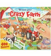 Create Your - Crazy Farm Klistermærke Bog