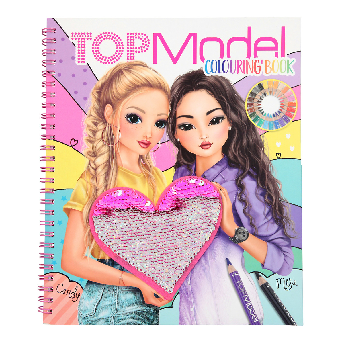 Top Model - Colouring Book w/Sequin (0410744)