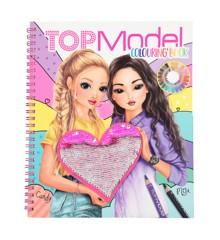 Top Model - Malebog med Pailletter