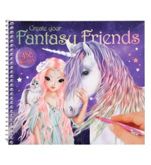 Top Model - Fantasy Friend Design Bog med Klistermærker