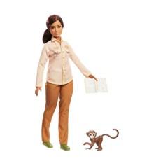 Barbie - Wildlife dyreforkæmper dukke med abe (GDM48)
