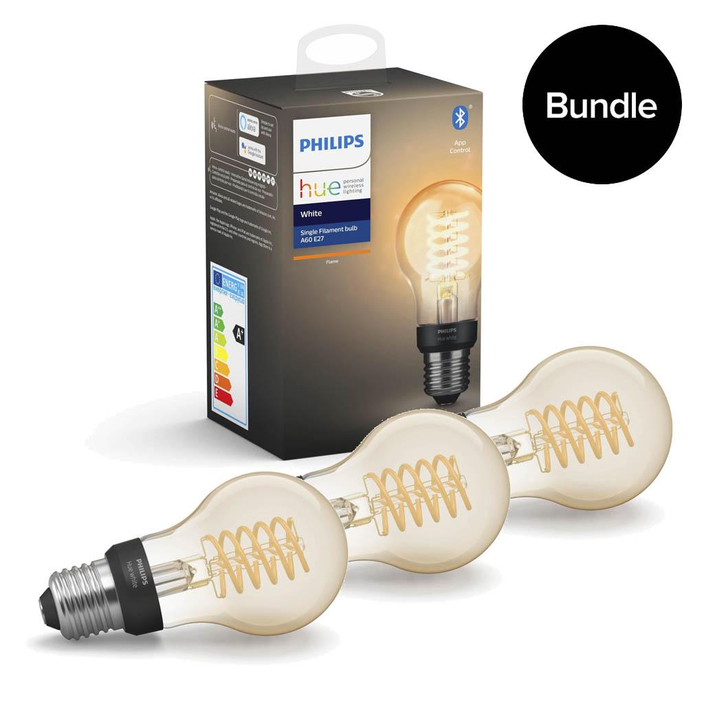 Philips Hue - 3x Filament Vintage-Lampe E27 ST64 - Bundle