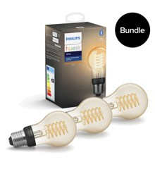 Philips Hue - 3xE27 Filament A60 - White - Bluetooth - Bundle