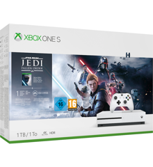 Xbox One S 1TB Star Wars Fallen Jedi Order Bundle