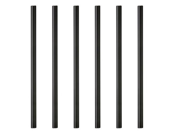 Lyngby Glas - Straw 14,5 cm - 6 pcs - Black (10441)