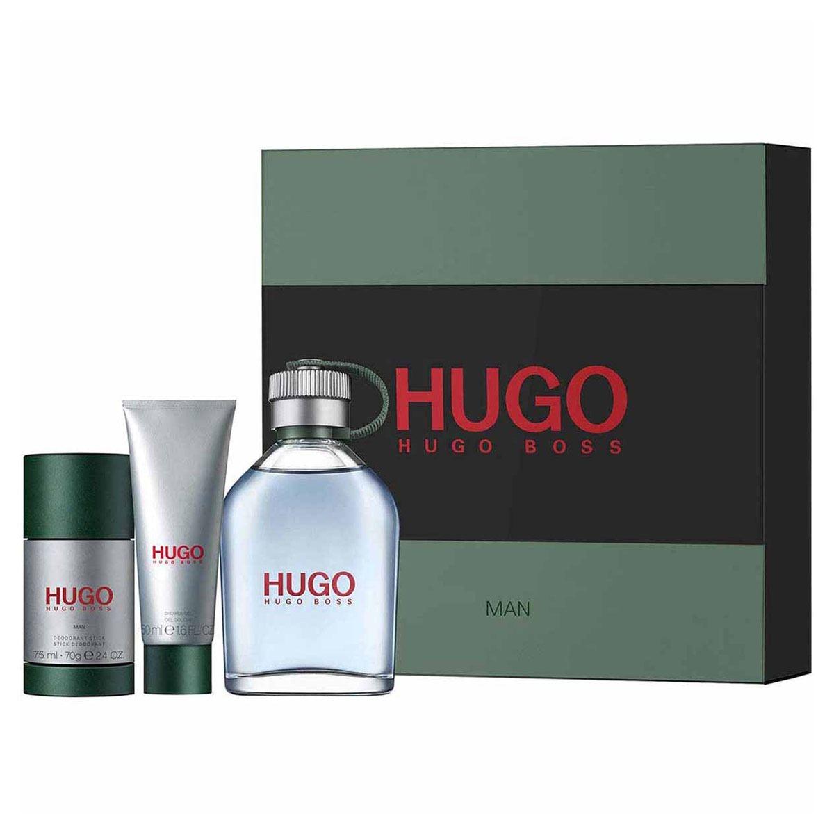 Hugo Boss - Hugo Man 125 ml EDT + Deo stick 75 ml + Shower Gel 50 ml - Giftset