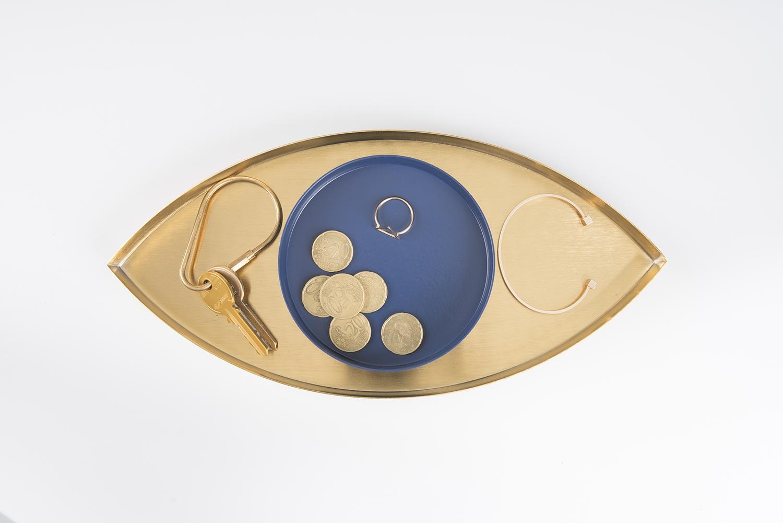 The Eye - Tray (Gold & Blue) (DYEYEGOBL)
