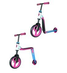 Scoot & Ride Highwayfreak - Løbehjul og Løbecykel i én - Pink