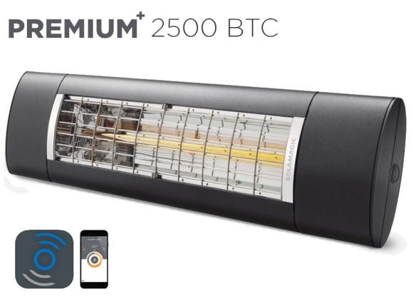 Solamagic - 2500 Premium+ BTC - Patio Heater - Antracite - 5 Years Warranty