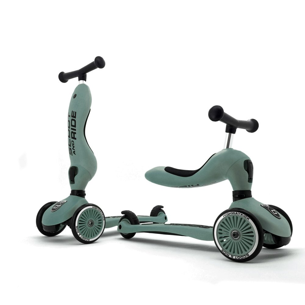 Scoot and Ride - 2 i 1 Løbecykel/ Løbehjul - Forest | løbecykel og løbehjul