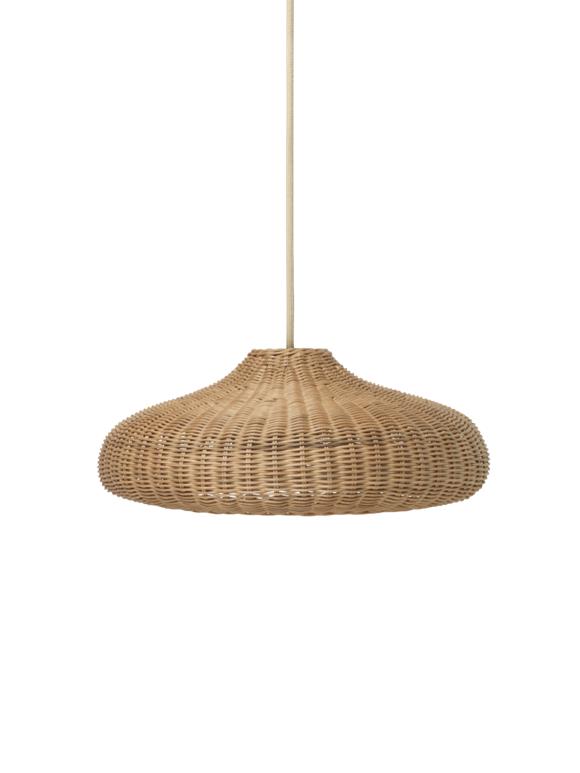 Ferm Living - Braided Lampeskærm - Brun