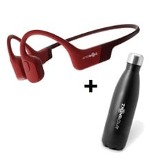 AfterShokz - Aeropex Red & Aftershokz - Stainless Steel Vacuum Water Bottle Capacity 500ml - Bundle