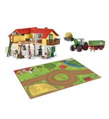 Schleich - Farm Bundle - Large Farm House + Tractor + Playmat