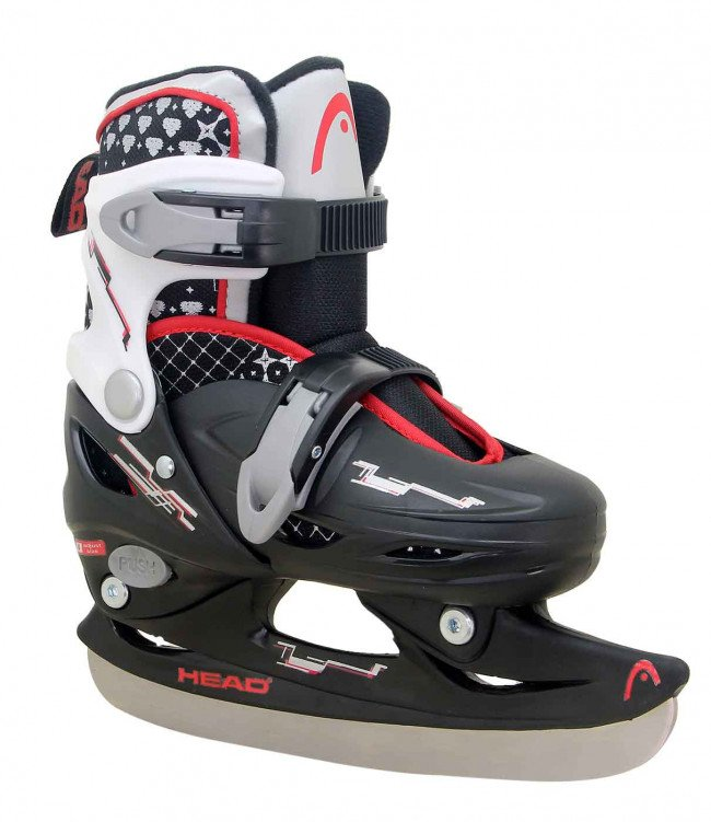 Head - Adjustable Ice Skate - Black (size: 30-33)