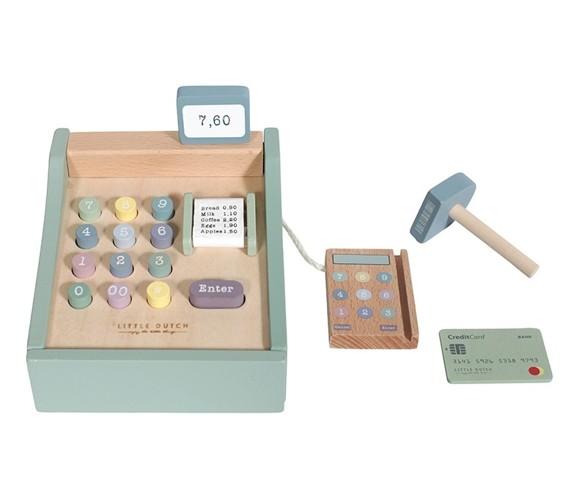 Little Dutch - Wooden toy cash register with scanner (4469)