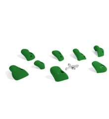 ​That's Mine - 8 Small Climbing Grips For Concrete/Brick Wall - Leaf Green (CR1107GR)