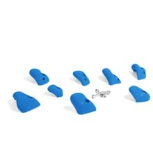 ​That's Mine - 8 Small Climbing Grips For Concrete/Brick Wall - Sky Blue (CR1107BLU)