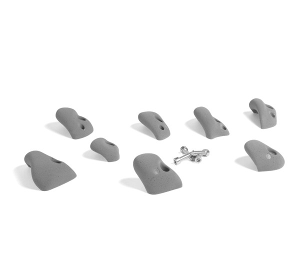 That's Mine - 8 Large Climbing Grips For Concrete/Brick Wall - Grey (CR1106G)