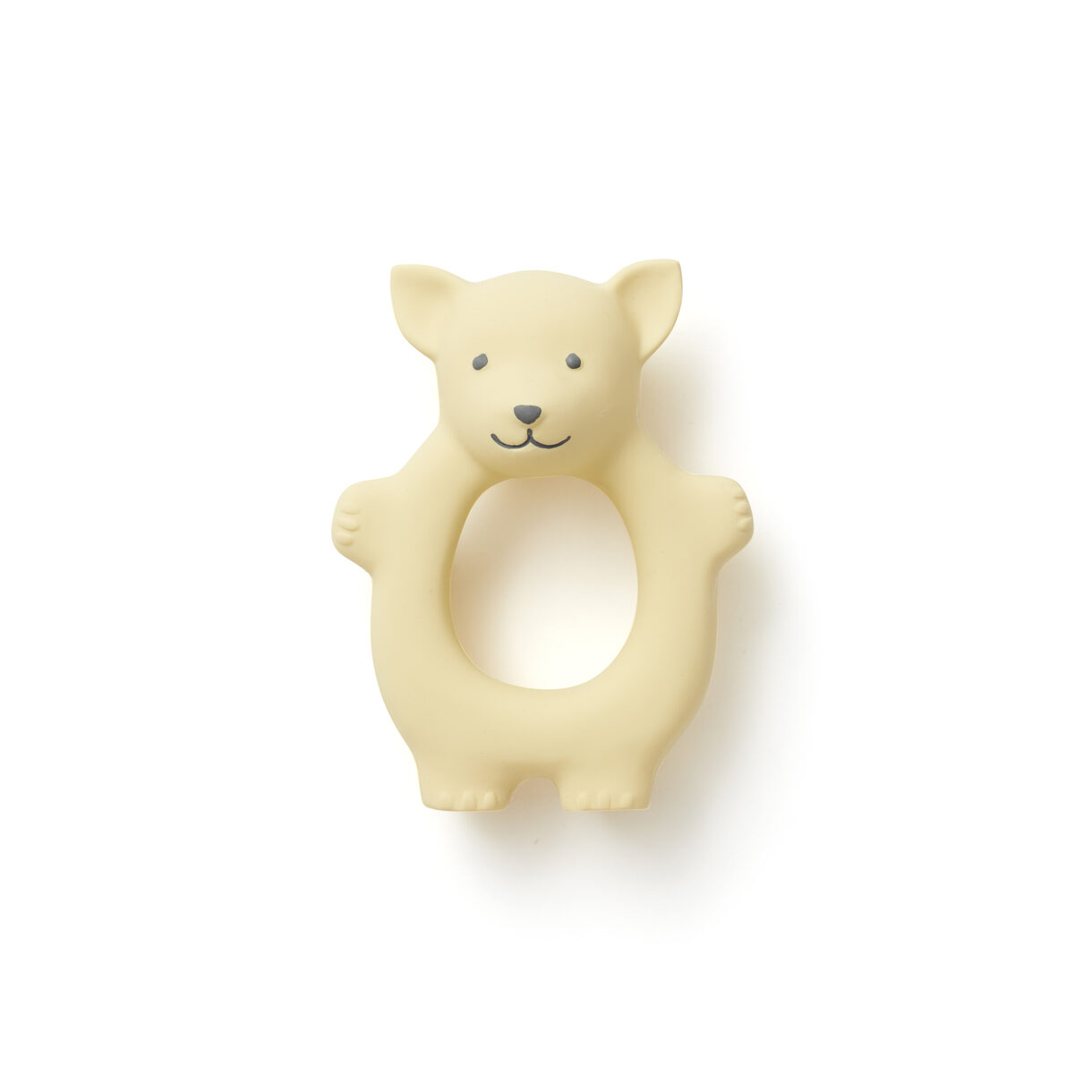 Kids Concept - Teether Fox in Natural Rubber - Yellow (1000458)