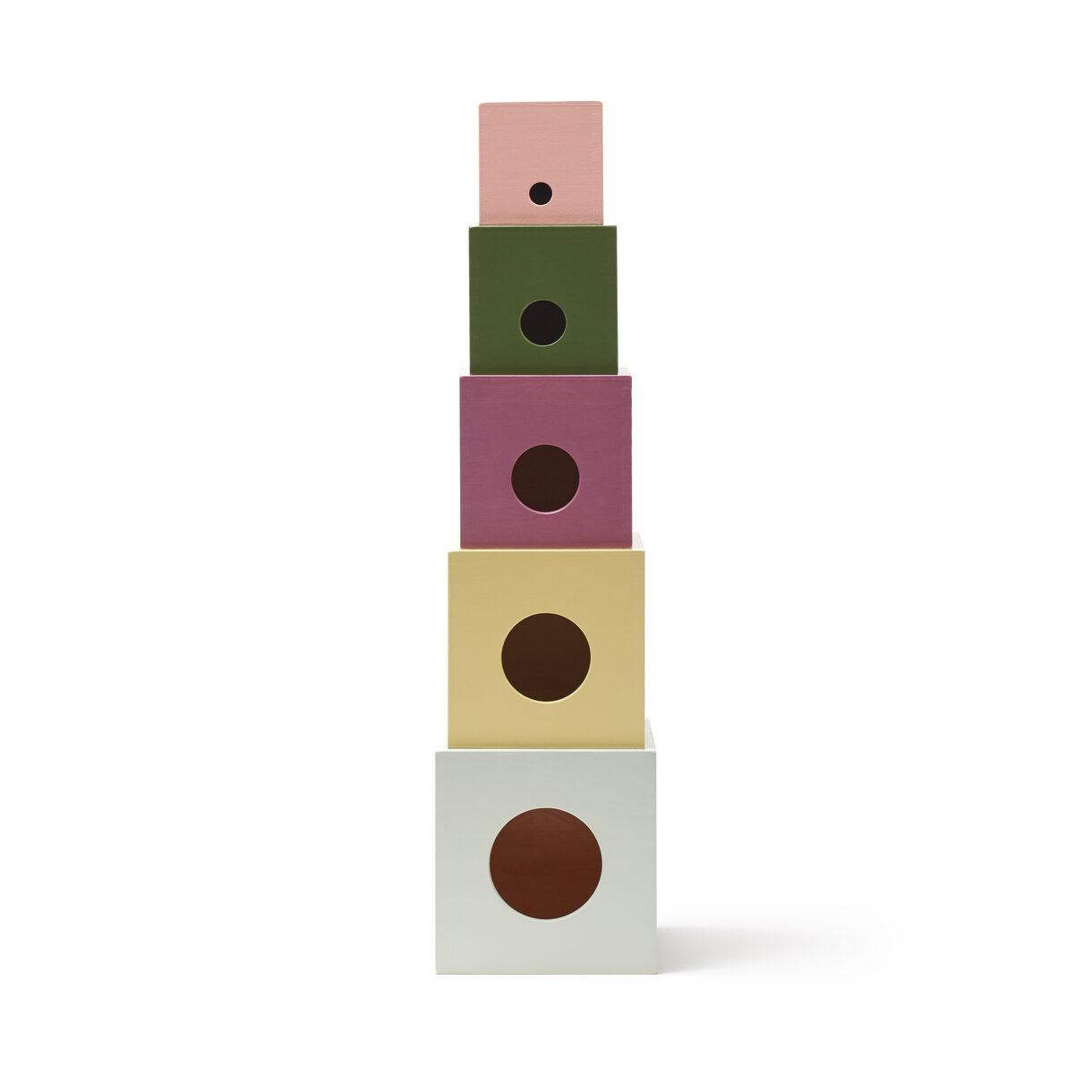 Kids Concept - Edvin - Cubes Wood 5 pcs (1000451)
