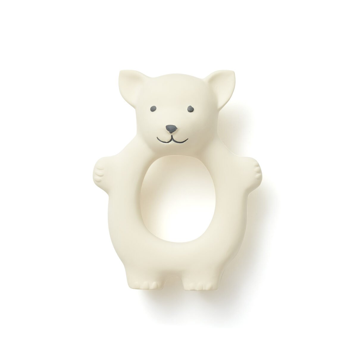 Kids Concept - Teether Fox Natural Rubber - White (1000457)
