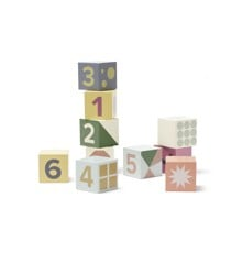 Kids Concept - Cubes Wood - Edvin 10 pcs (1000467)