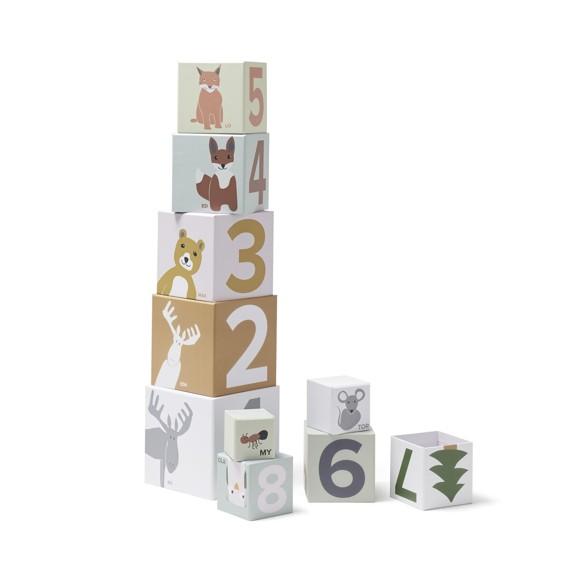 Kids Concept - Stabletårn i Papir 1-10 - Edvin