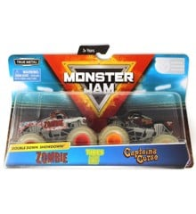 Monster Jam 1:64 2 Pakke - Zombie & Captain's Curse