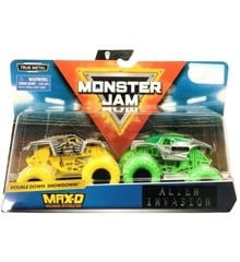 Monster Jam 1:64 2 Pakke - Max-D & Alien Invasion