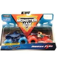 Monster Jam 1:64 2 Pack - Blue Thunder & Hurricane Force