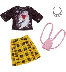 Barbie - Complete Looks - Black Top & Yellow Skirt