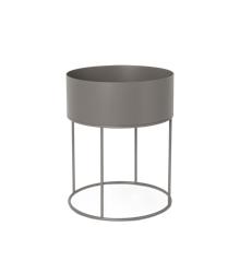 Ferm Living - Plant Box Round - Warm Grey (100183111)