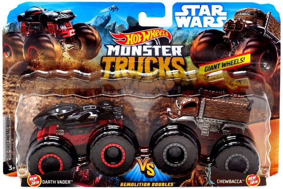 Hot Wheels - Monster Trucks 2 pack - Darth Vader vs. Chewbacca