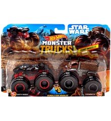 Hot Wheels - Monster Trucks 2 pakke - Darth Vader vs. Chewbacca