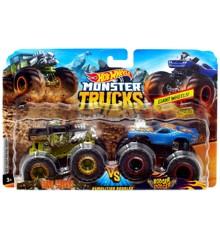 Hot Wheels - Monster Trucks 2 pack - Bone Shaker vs. Rodger Dodger